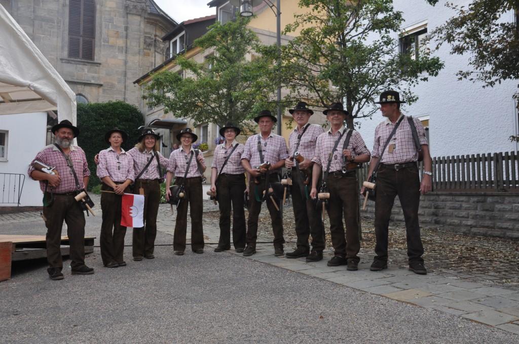 Böllerschützen Gruppenfoto
